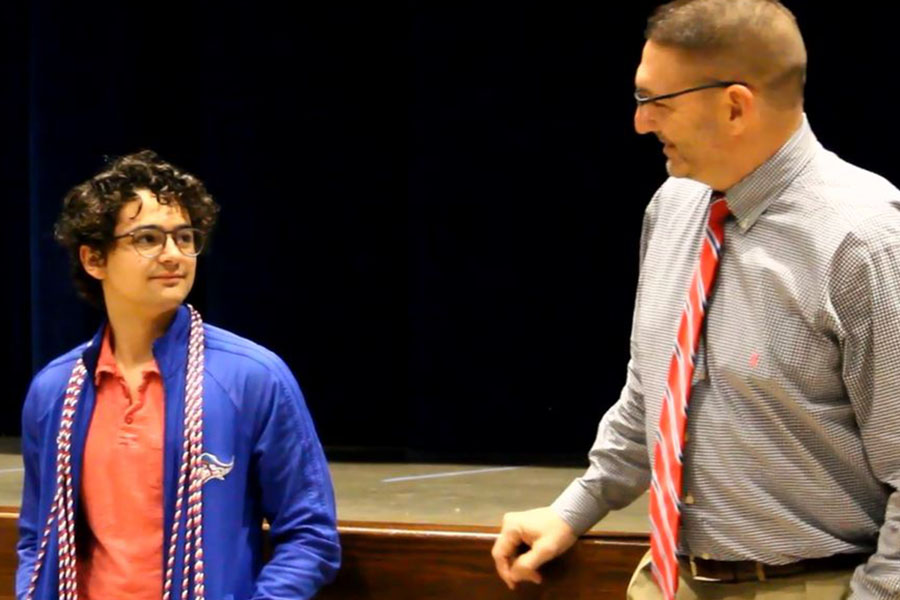 Receiving the Military Honor Cords
