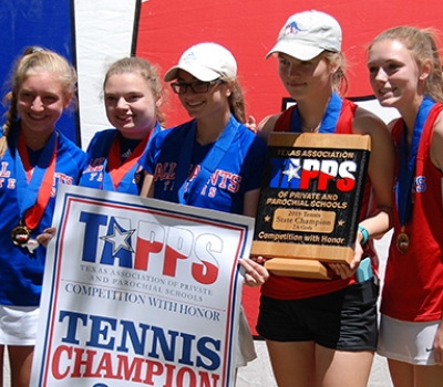 Patriot Girls Win TAPPS 2A Tennis Championship