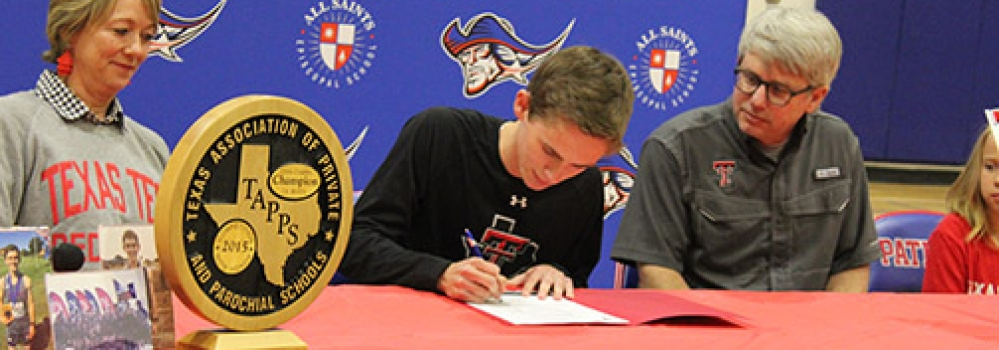 Senior Ret Taylor Signs with Texas Tech XC and Track and Field