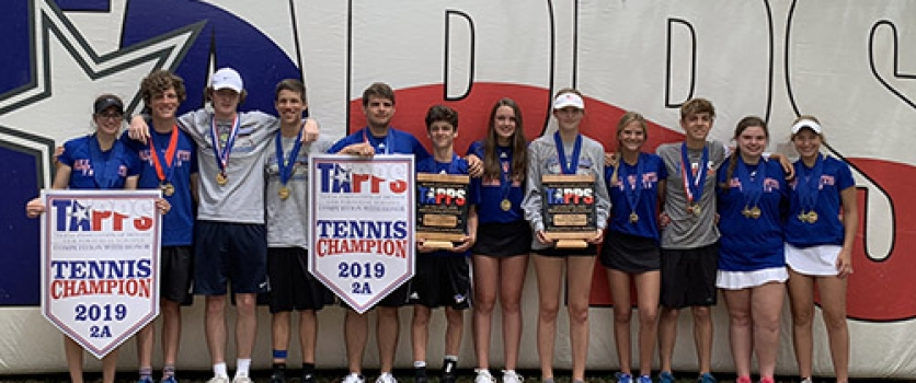 Varsity Tennis Wins TAPPS 2A State Championship