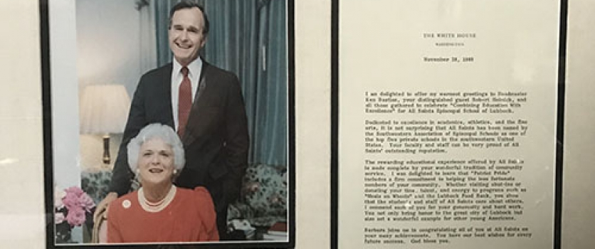 President George H.W. Bush Honors All Saints with 'Point of Light'